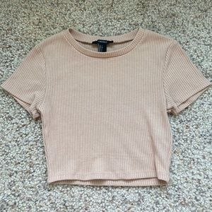 Forever 21 Light pink cropped tee